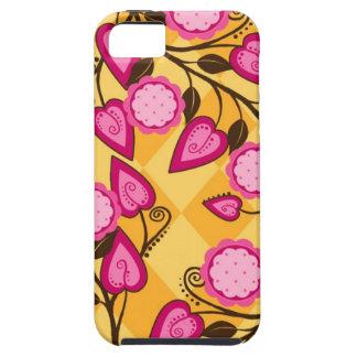 Caso del iPhone de la flora iPhone 5 Funda