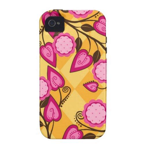 Caso del iPhone de la flora Vibe iPhone 4 Carcasa