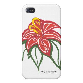 Caso del iPhone de la floración del Poinsettia iPhone 4 Carcasa