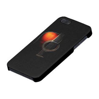 Caso del iPhone de la guitarra acústica del punto iPhone 5 Fundas