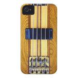 Caso del iPhone de la guitarra baja iPhone 4 Case-Mate Carcasas