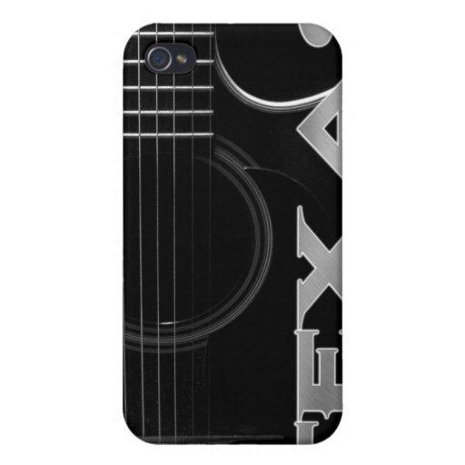 Caso del iPhone de la guitarra de Tejas iPhone 4/4S Carcasas