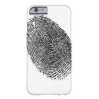 caso del iphone de la huella dactilar funda para iPhone 6 barely there