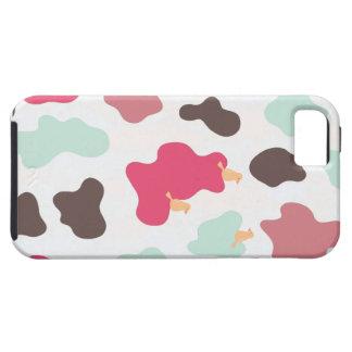 Caso del iPhone de la impresión de la vaca iPhone 5 Carcasa