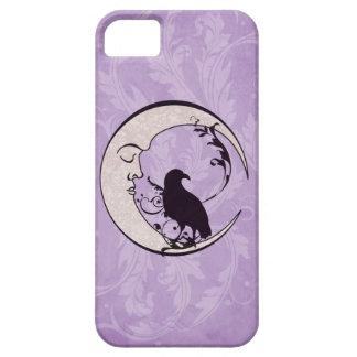 Caso del iPhone de la luna del cuervo iPhone 5 Fundas