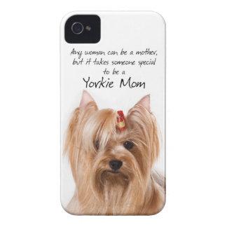 Caso del iPhone de la mamá de Yorkie Case-Mate iPhone 4 Funda