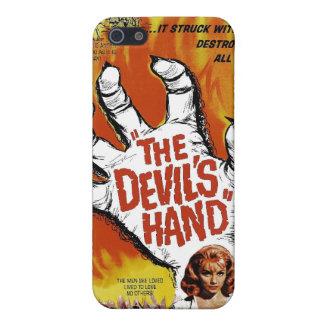 """Caso del iPhone """"de la mano del diablo"""" iPhone 5 Protectores"""