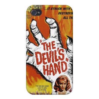 """Caso del iPhone """"de la mano del diablo"""" iPhone 4 Fundas"""