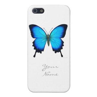 Caso del iPhone de la mariposa de Papilio Ulises iPhone 5 Fundas