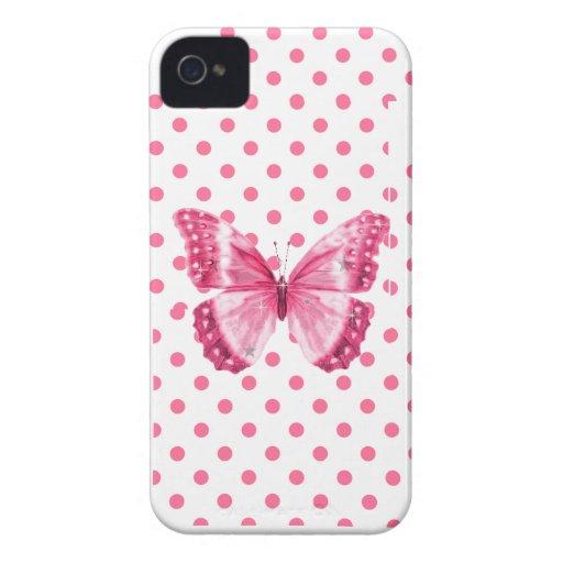Caso del iphone de la mariposa del lunar iPhone 4 protectores