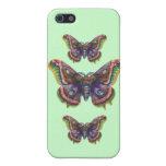 Caso del iPhone de la mariposa del vintage (verde) iPhone 5 Protector