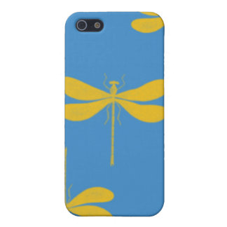 Caso del iphone de la mota de las libélulas iPhone 5 coberturas