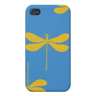 Caso del iphone de la mota de las libélulas iPhone 4 carcasas