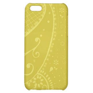 Caso del iphone de la mota de Paisley del oro