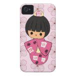 Caso del iPhone de la muñeca de Kawaii Kokeshi iPhone 4 Cobertura