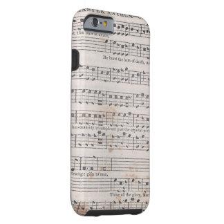 Caso del iPhone de la música de Shapenote Funda Resistente iPhone 6