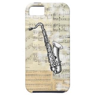 Caso del iPhone de la música del saxofón del Funda Para iPhone 5 Tough