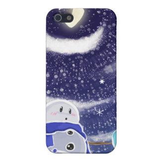 Caso del iPhone de la nieve de la luna iPhone 5 Fundas