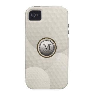 Caso del iPhone de la pelota de golf del monograma Case-Mate iPhone 4 Carcasa