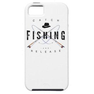 Caso del iPhone de la pesca de la captura y del iPhone 5 Case-Mate Fundas