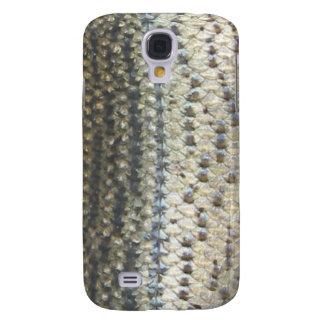 Caso del iPhone de la piel de la lubina rayada