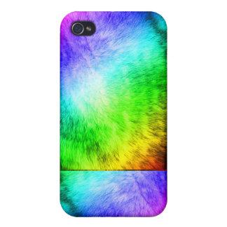 Caso del iPhone de la piel del lobo del arco iris iPhone 4 Funda