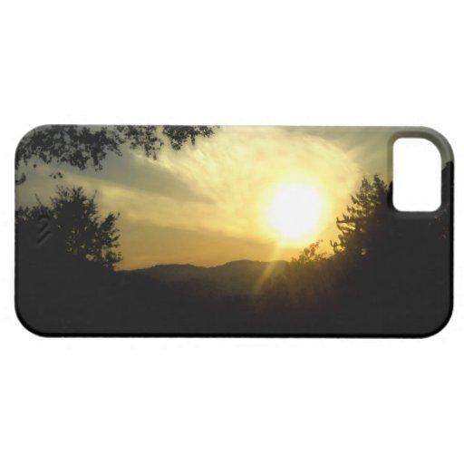 Caso del iPhone de la puesta del sol de California iPhone 5 Protectores