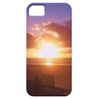 Caso del iPhone de la salida del sol de la playa iPhone 5 Fundas