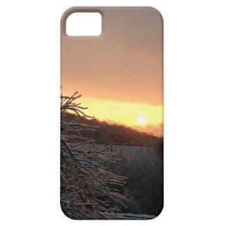 Caso del iPhone de la salida del sol del invierno iPhone 5 Funda