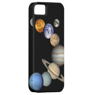 Caso del iPhone de la Sistema Solar del espacio de iPhone 5 Fundas