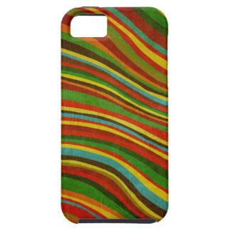 caso del iphone de la textura de la onda del vinta iPhone 5 protectores