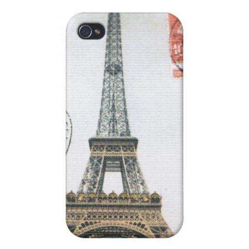 Caso del iphone de la torre Eiffel del vintage… iPhone 4 Funda