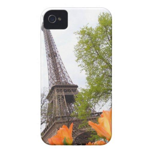 Caso del iPhone de la torre Eiffel iPhone 4 Funda