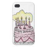 Caso del iPhone de la torta de cumpleaños iPhone 4 Cárcasas