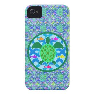 Caso del iPhone de la tortuga de mar verde Case-Mate iPhone 4 Cárcasas