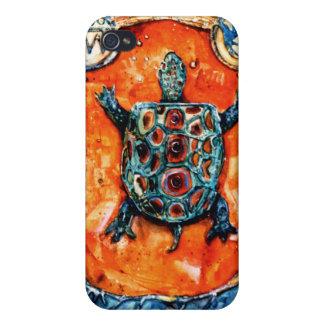Caso del iphone de la tortuga de PMACarlson Brothe iPhone 4/4S Fundas