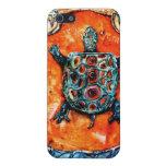 Caso del iphone de la tortuga de PMACarlson Brothe iPhone 5 Protectores
