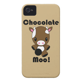 Caso del iPhone de la vaca del MOO Kawaii del choc iPhone 4 Carcasas