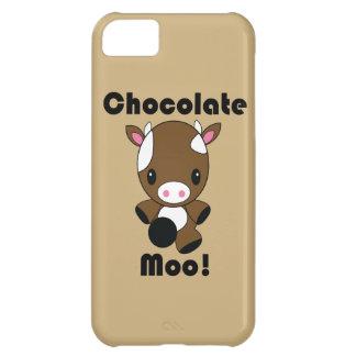 Caso del iPhone de la vaca del MOO Kawaii del choc