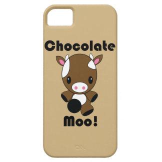 Caso del iPhone de la vaca del MOO Kawaii del choc iPhone 5 Cárcasas