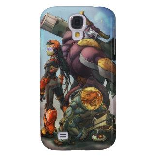 Caso del iPhone de la vaca loca Funda Para Galaxy S4