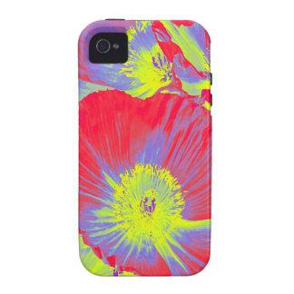 caso del iphone de las amapolas iPhone 4/4S carcasa