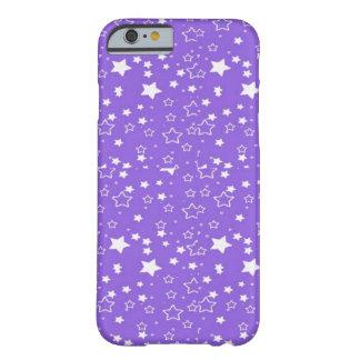 caso del iphone de las estrellas de la púrpura y funda de iPhone 6 barely there