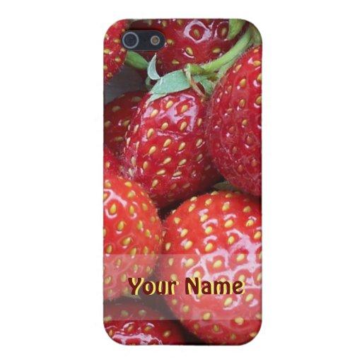Caso del iPhone de las fresas iPhone 5 Carcasa