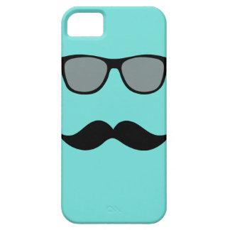 Caso del iPhone de las gafas de sol y del bigote d iPhone 5 Cárcasas