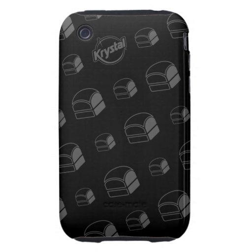 Caso del iPhone de las hamburguesas de Krystal Tough iPhone 3 Carcasa