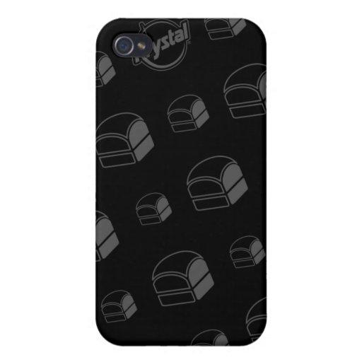 Caso del iPhone de las hamburguesas de Krystal iPhone 4 Fundas