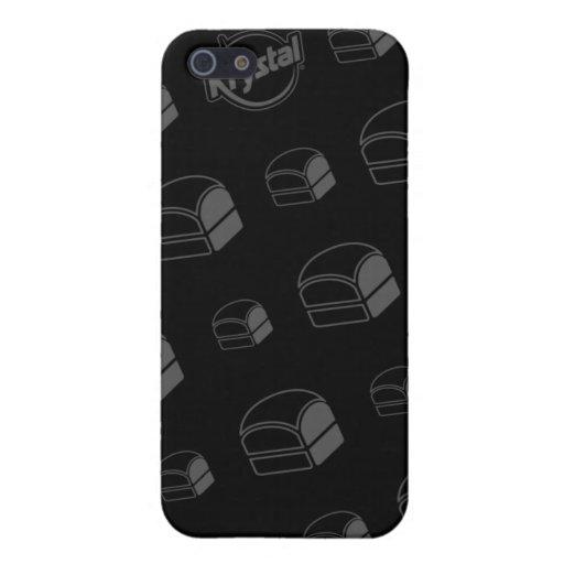 Caso del iPhone de las hamburguesas de Krystal iPhone 5 Protectores