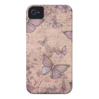 Caso del iPhone de las mariposas del Grunge del iPhone 4 Case-Mate Protector