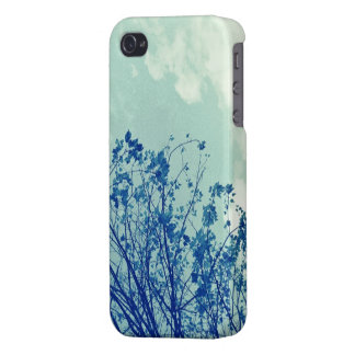 "Caso del iPhone de las ""ramas azules"" iPhone 4 Carcasas"